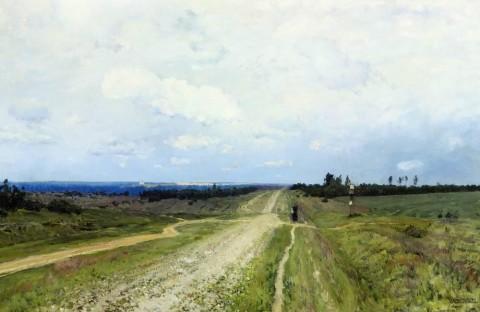 'De Vladimirka' (Levitan 1892)